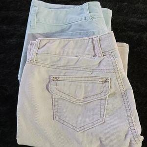 BUNDLE (2) Pair Corduroy Bootcut GAP Stretch Pants